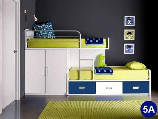 Funky yet space saving bunk bed twins room in 2019 - Space saving bunk beds ...