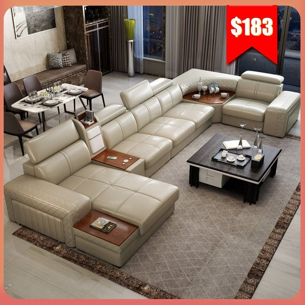 Living Room Real Genuine Leather Sofas In 2020 Genuine Leather Sofa Modern Living Room Sofa Set Leather Sofa Living Room