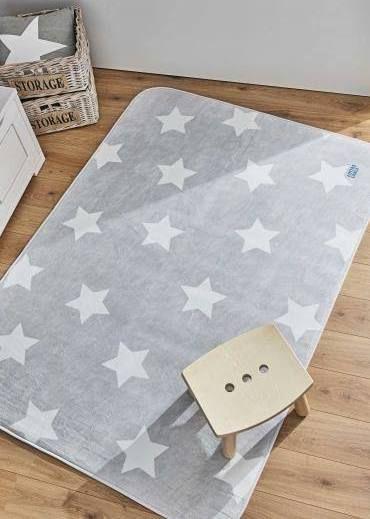 teppich grau stern Kinderzimmer Pinterest Room - kinder teppich beige gelb
