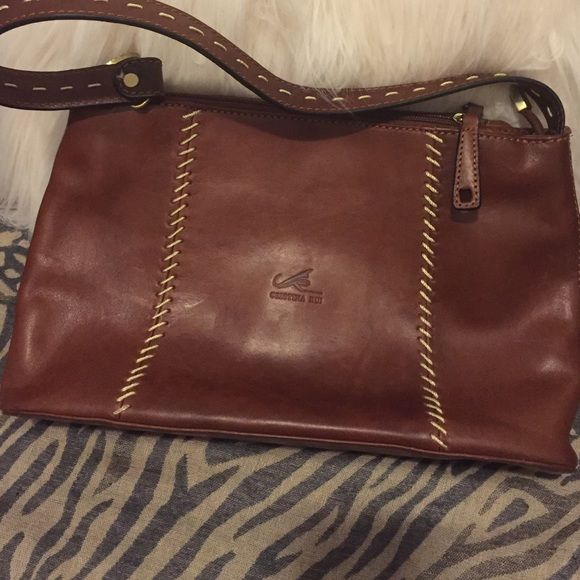 Cristina Rui Handbag Made In Italy Vegetable Tanned Hand Dyed Leather Nwot Well Crafted Purse Must See And Smell To Reciate This Bag