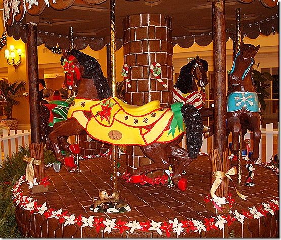 Yacht Club's gingerbread carousel Gingerbread Houses