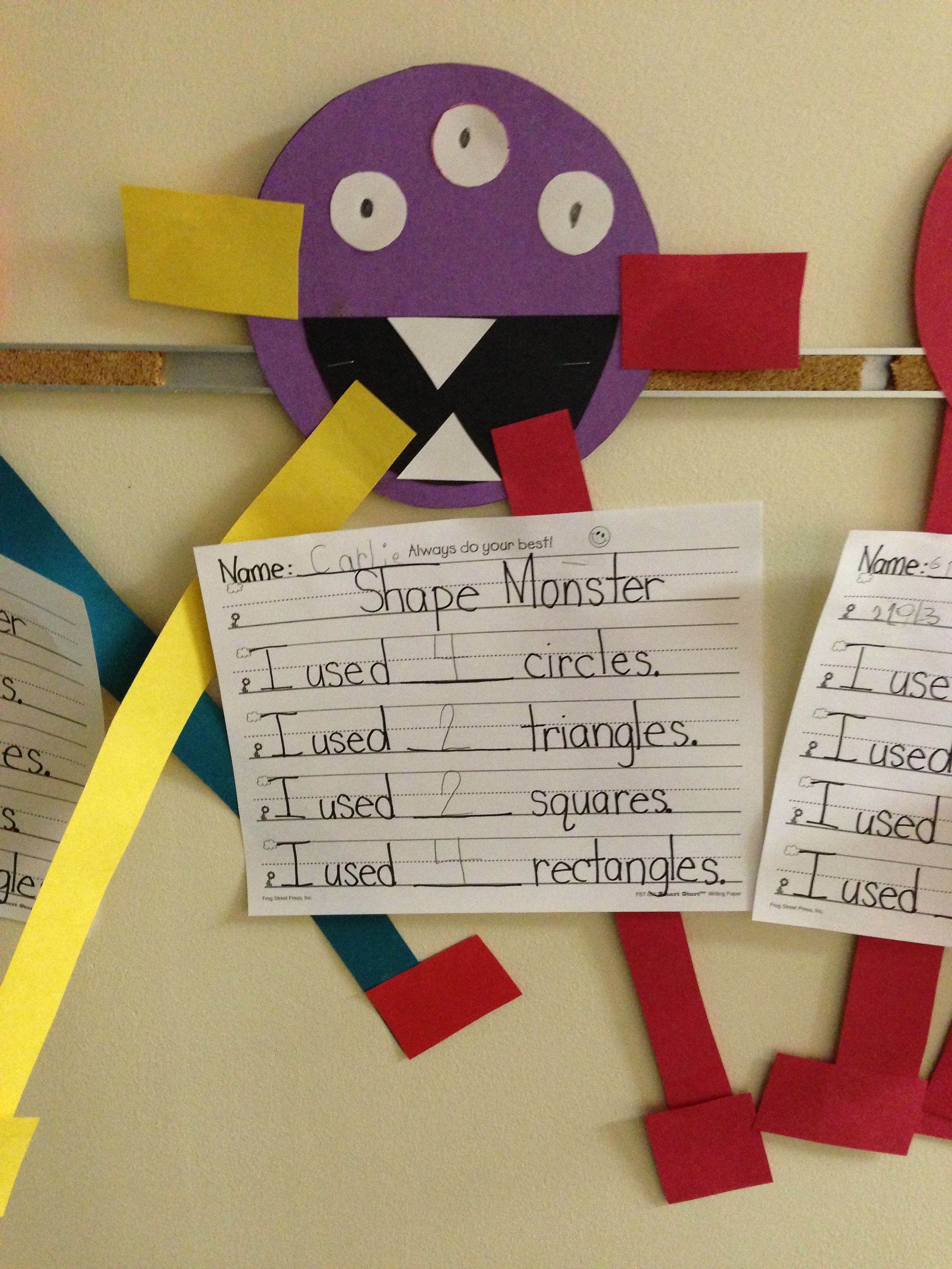 Shape Monsters My Kids Loved Making These After Our Shape