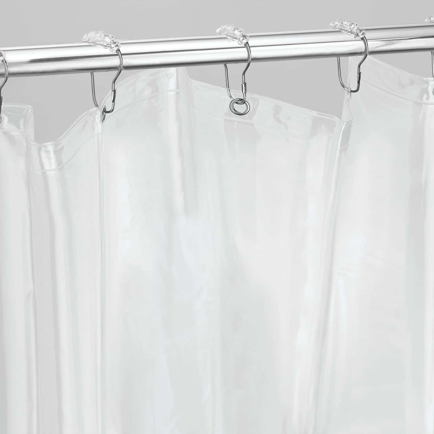 Interdesign Extra Wide Vinyl Bathroom Shower Curtain Liner Rings