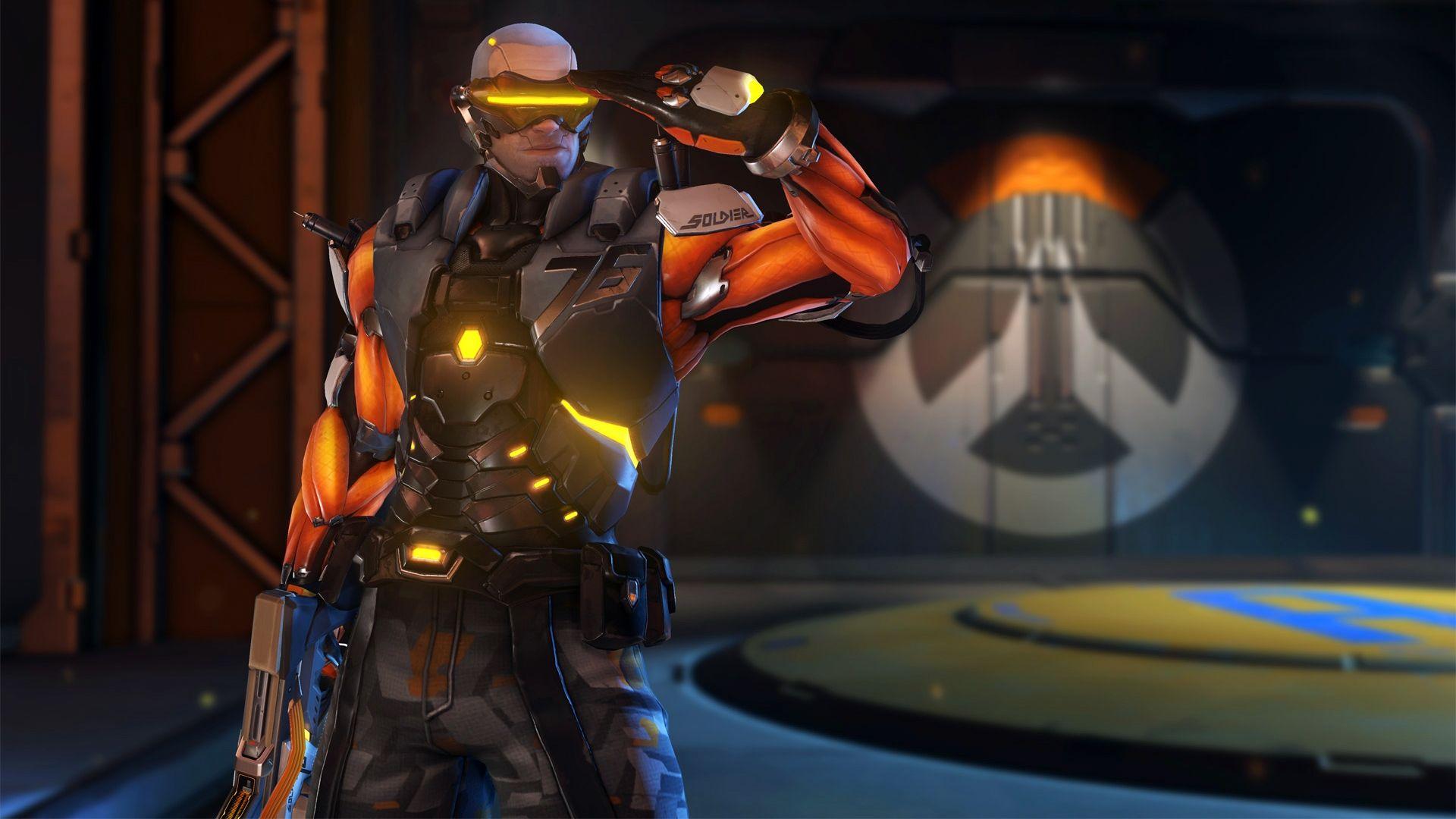 Cyborg 76 Soldier 76 Overwatch Anniversary Skin 1920x1080 Wallpaper Overwatch Overwatch Video Game Overwatch Competitive