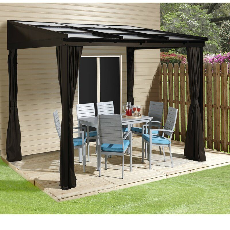 Sutton 12 Ft W X 10 Ft D Aluminum Patio Gazebo Patio Gazebo Gazebo Aluminum Patio