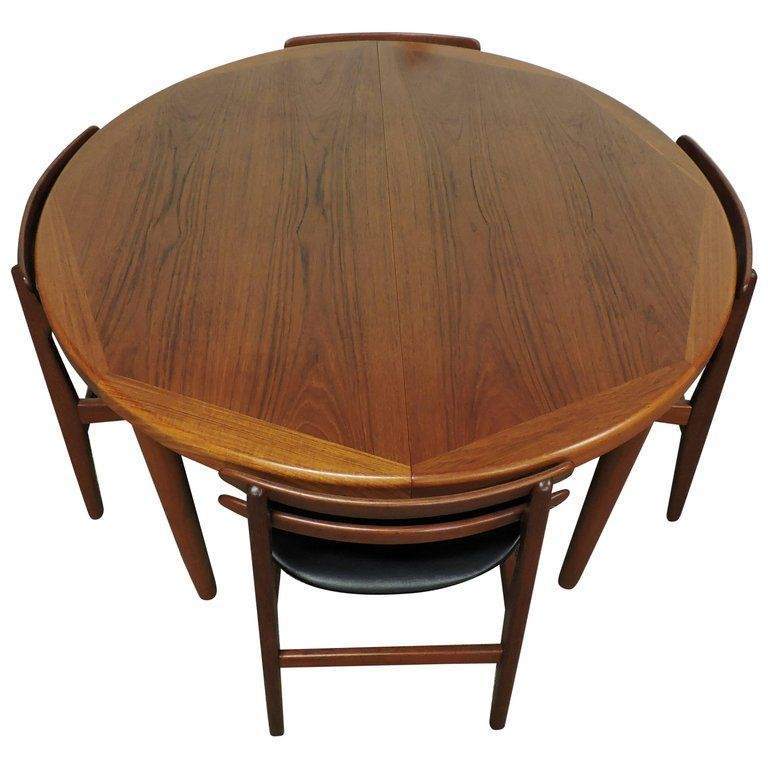Danish Modern Teak Extendable Dining Tablevejle Stole With Two Cool Dining Room Tables With Leaves Design Ideas