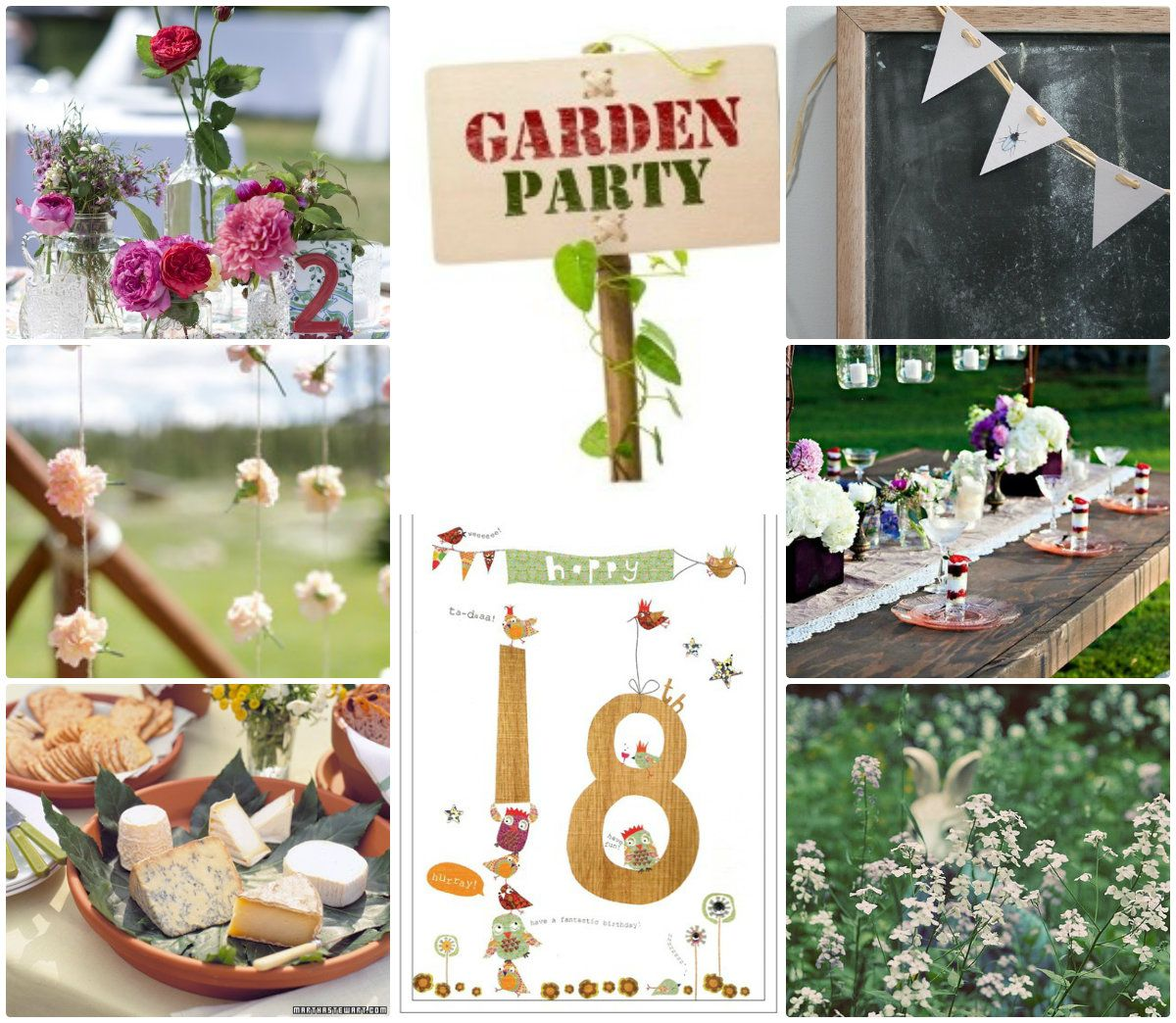 Fantastic 18th Birthday Party Ideas - Village Garden Theme | Party ...