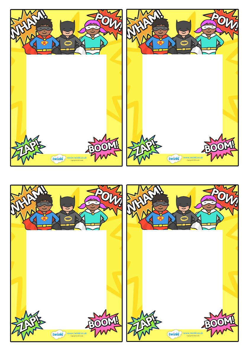 Twinkl Resources >> Editable Note From Teacher (Superhero Themed ...
