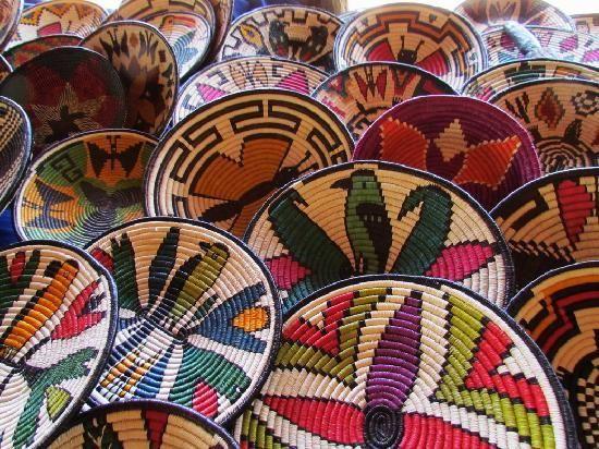 Colorful Woven Baskets Basket Weaving Panama City Panama Fair