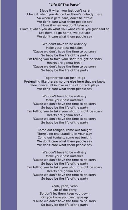 Life Of The Party By Shawn Mendes Shawn Mendes Lyrics Shawn Mendes Song Lyrics Shawn Mendes Songs