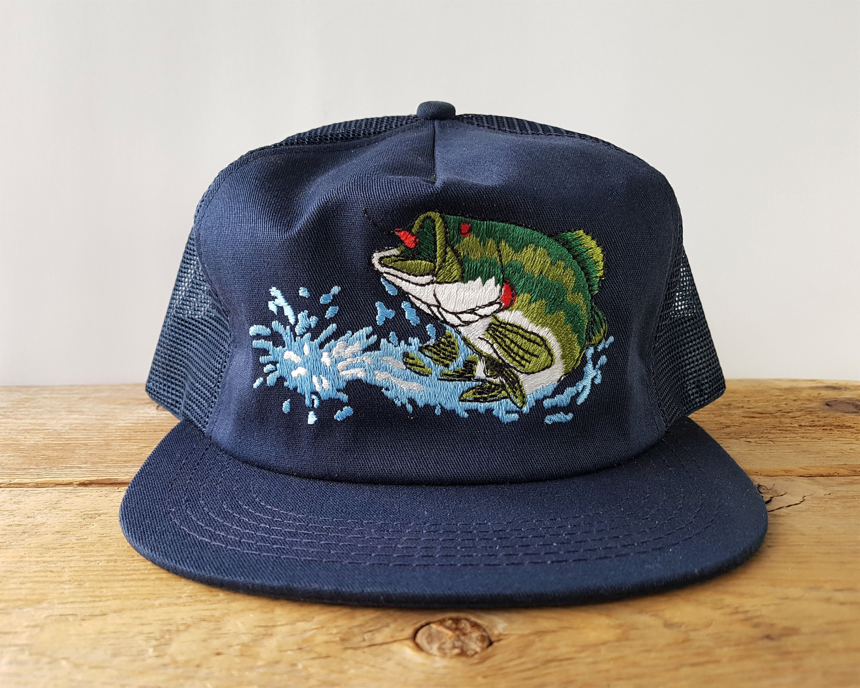 Vintage Largemouth Bass Trucker Hat K Products Made In Usa Fishing Mesh Snapback Baseball Cap Emboidered Freshwater Fish Deadstock Nos Vintage Trucker Hats Hats Trucker Hat