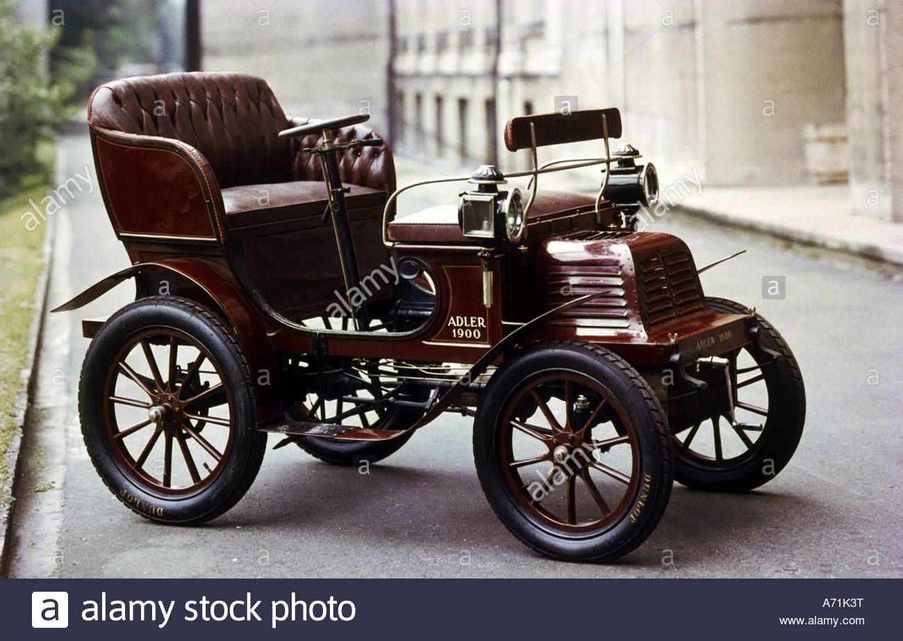 Transport Transportation Cars Adler 1900 19th Century Historic Historical Car Germany Stock Photo