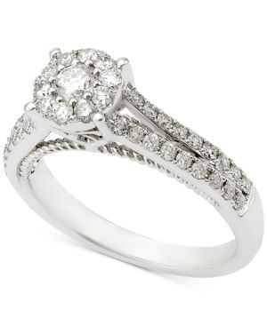 Diamond Engagement Ring (3/4 ct. t.w.) in 14k White Gold - Gold