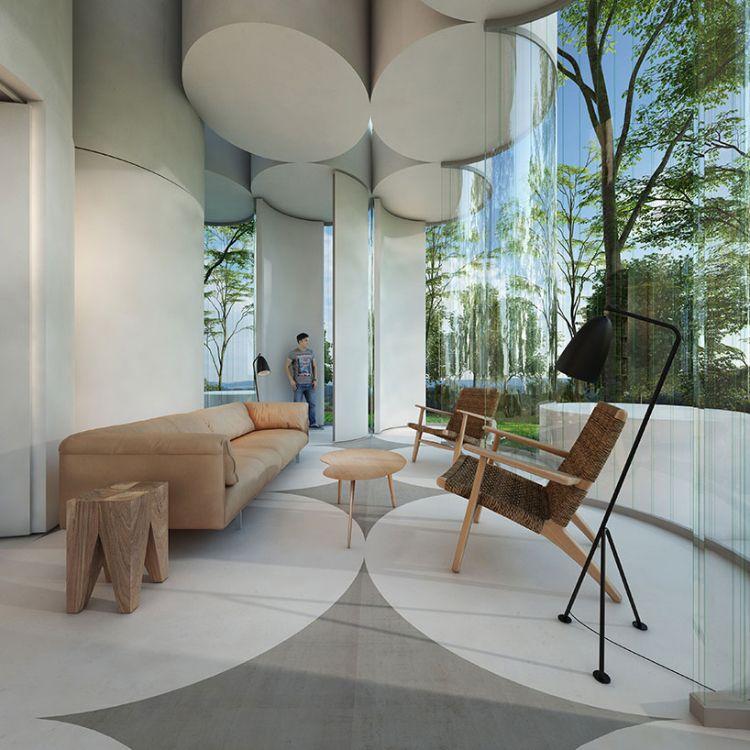 Fensterfront Haus Aus Glas Stehlampe Sofa Couchtisch #architektur #dreamhome