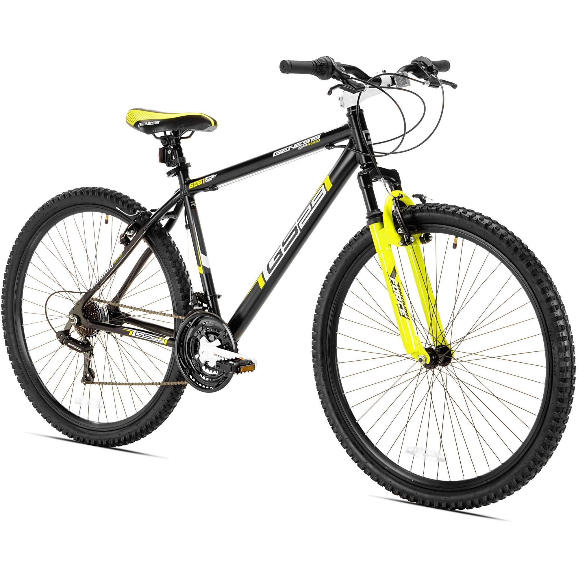 29 Men S Gs29 Genesis Black Yellow Mountain Bike Mens Mountain Bike Bicycle White Bike