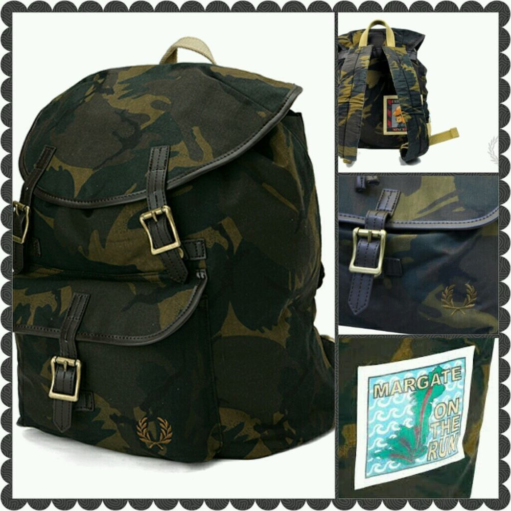 Fred Perry margate on the run Rucksack   VESPA   LML   Top ...