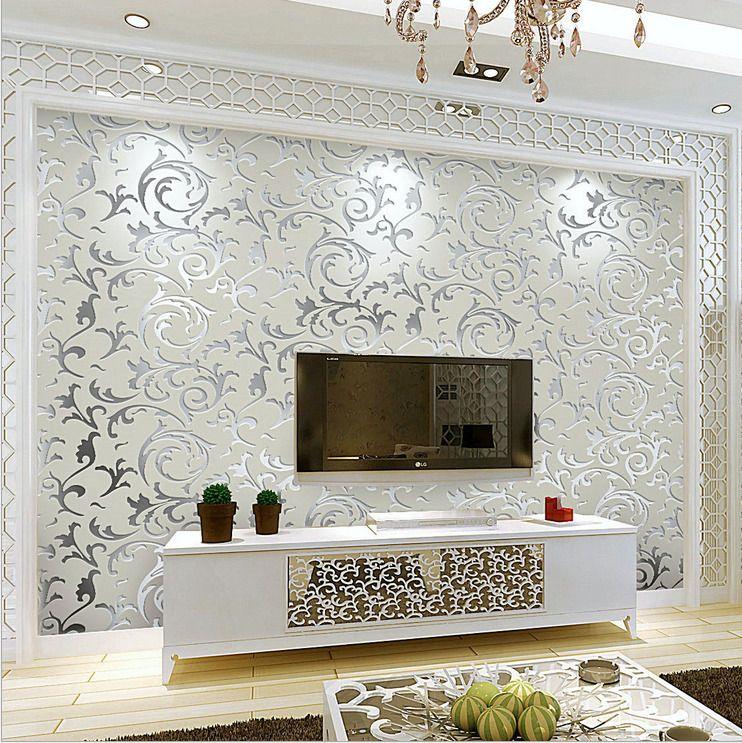 3d Modern Gloss Wallpaper Roll Background For Living Room Bedroom Home Decor Home G Wall Decor Bedroom Wallpaper Living Room Interior Design Living Room