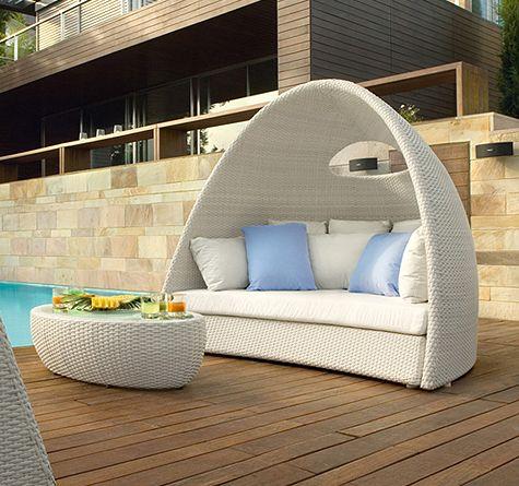 Sicht-, Wind- und Sonnenschutz bietet Rattaninsel Igloo!   Sun ...