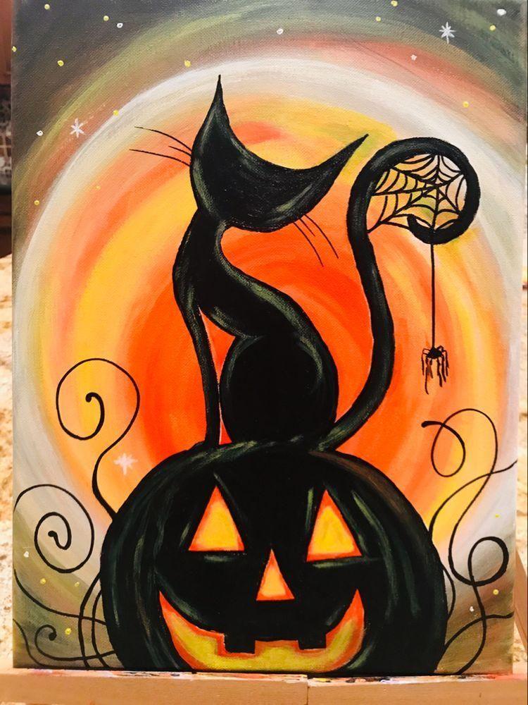 300 Painting-Halloween ideas in 2021   halloween art, halloween painting, painting