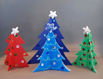 that artist woman: Simple Christmas Trees