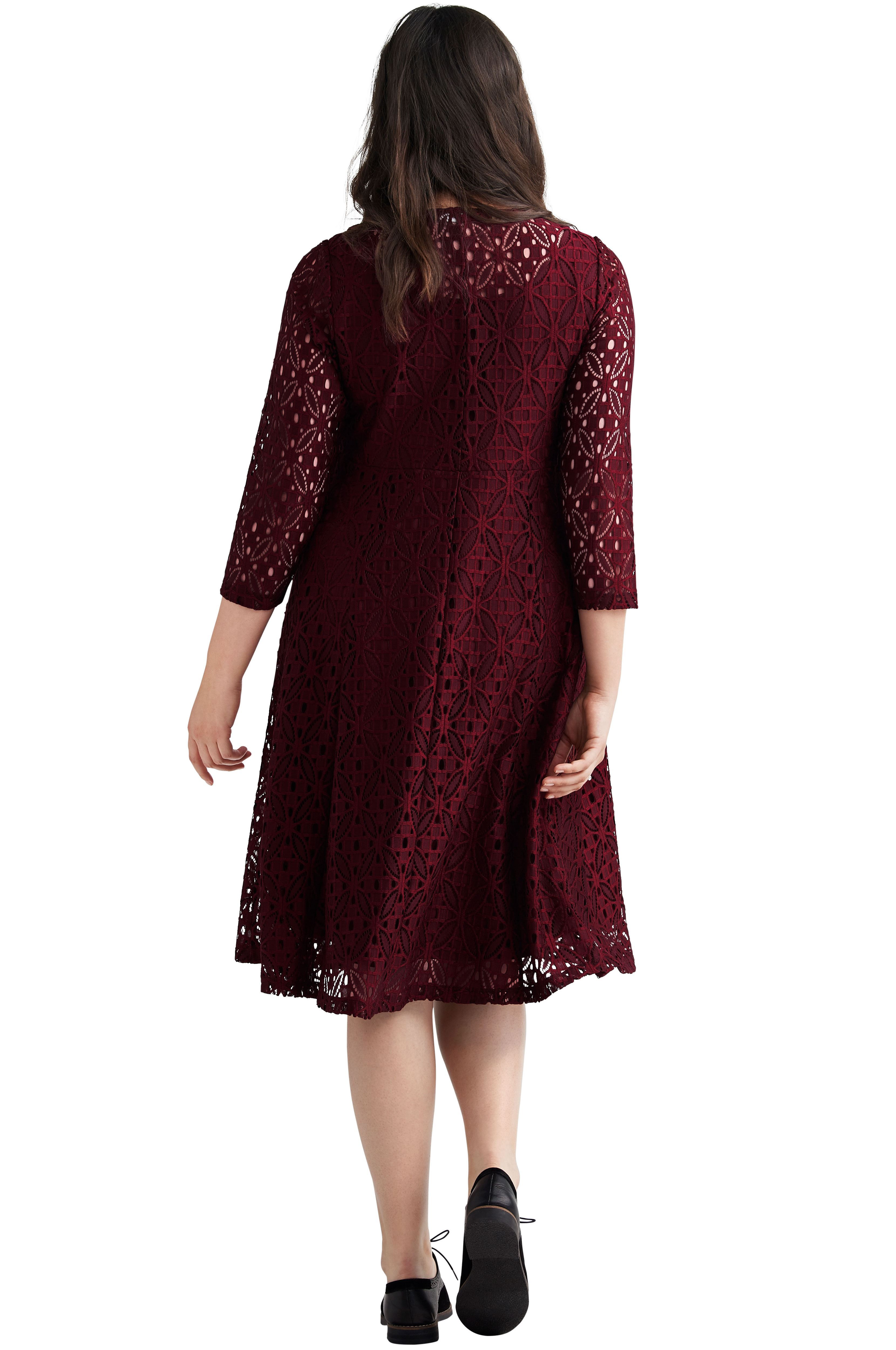 83e5f699 Fit & Flare Stretch Lace Dress by ellos - Women's Plus Size Clothing ...