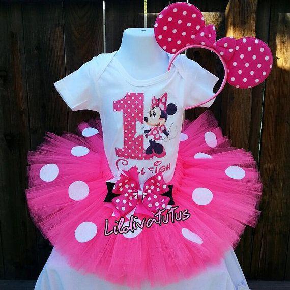 Handmade pink minnie mouse tutu set by Lildivatutu789 on Etsy