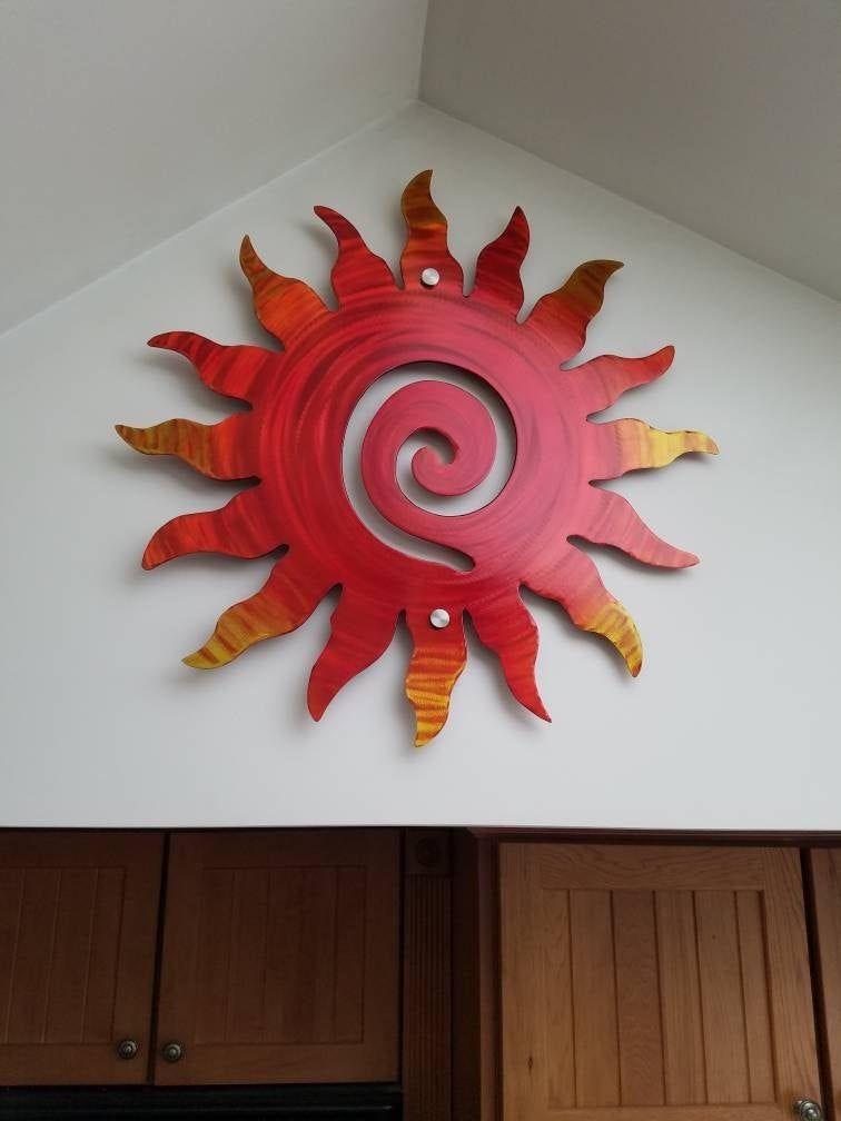 Sun Wall Decor home and garden Art Indoor Outdoor Patio Sculptures living room