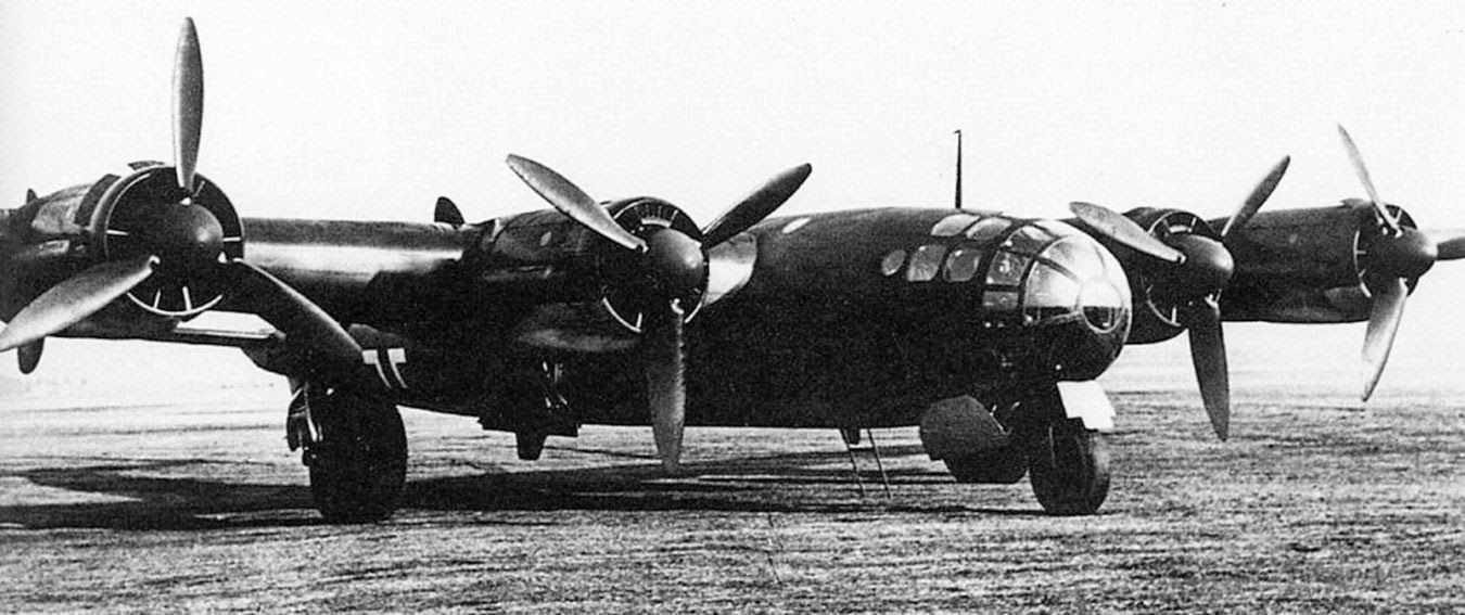 Messerschmitt Me 264 Amerika bomber, its objective: being able to strike continental USA from Germany, 1942