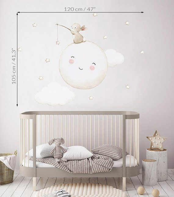 "KinderVinyl Fabric ""FULL MOON"" Vinyl für Babys und Kinder"