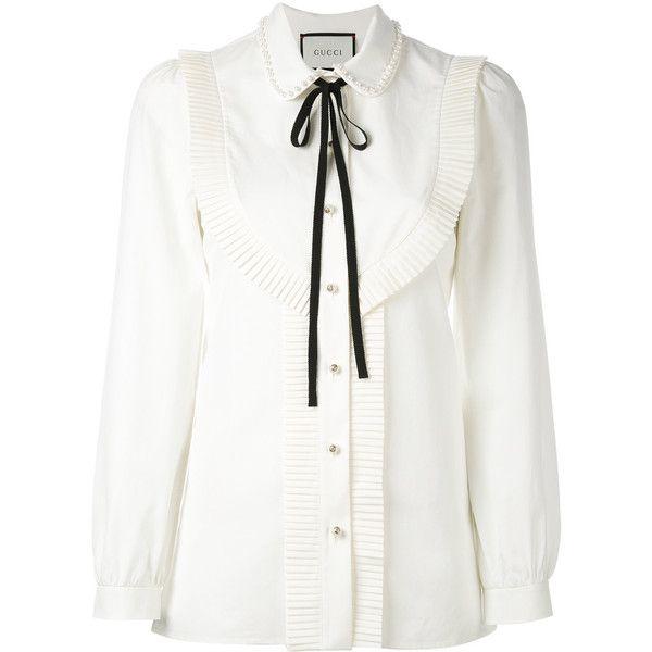 3f305bfacb9379 Gucci pleated trim blouse ( 1