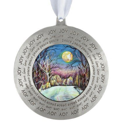 Silent night winter full moon in sweden pewter ornament winter silent night winter full moon in sweden pewter ornament winter gifts style special unique gift negle Images