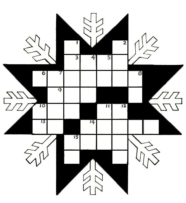 Snowflake Kids Printable Crossword Puzzle Printables Pinterest
