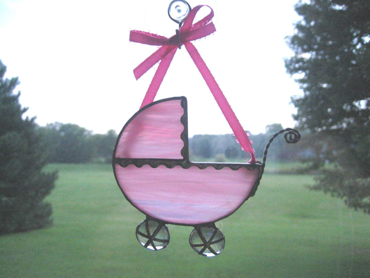 2019 Baby's First Christmas Ornament, Soft Pink Baby Carriage