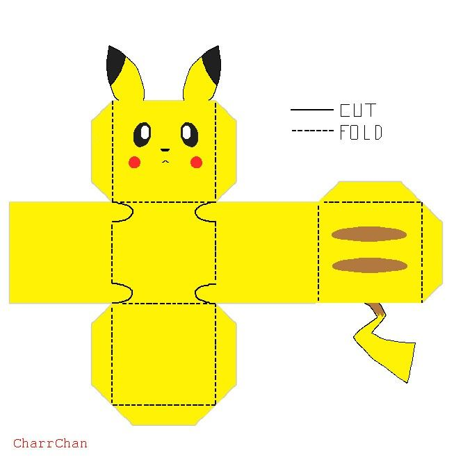 Pikachu Para Recortar E Montar | Best Paper Toys, Early