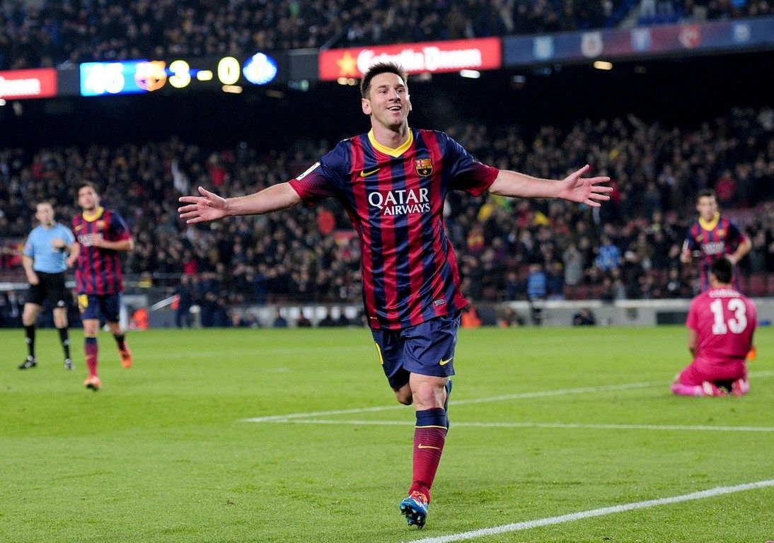 Lionel messi return after injury has scored two goals we