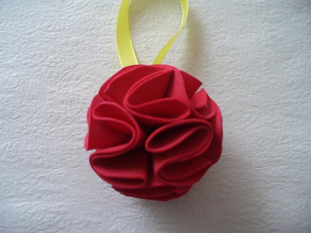 Diy Christmas Tree Ornament Foam Paper Flower Ball Diy Christmas
