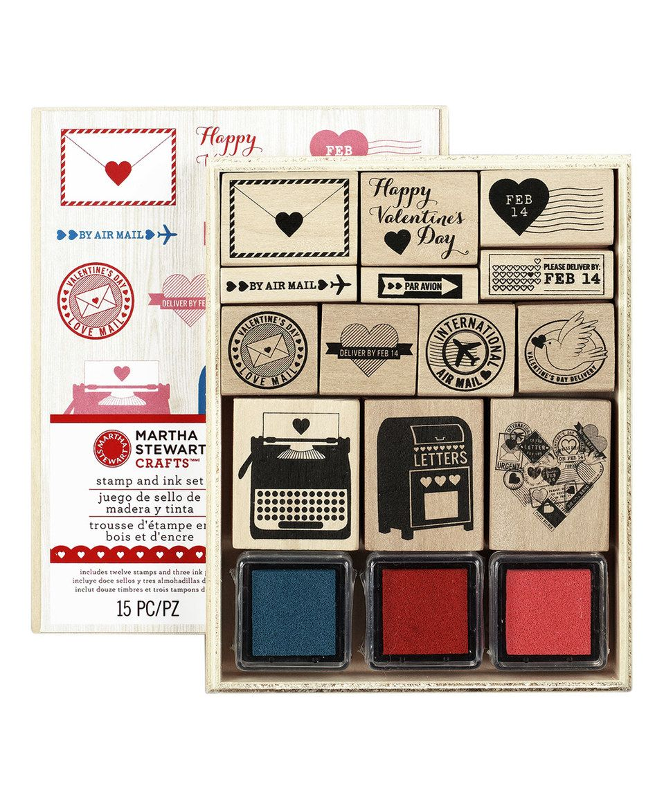 Look what I found on #zulily! Love Notes Stamp Set by Martha Stewart Crafts #zulilyfinds