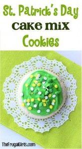 St Patricks Day Cake Mix Cookies Recipe