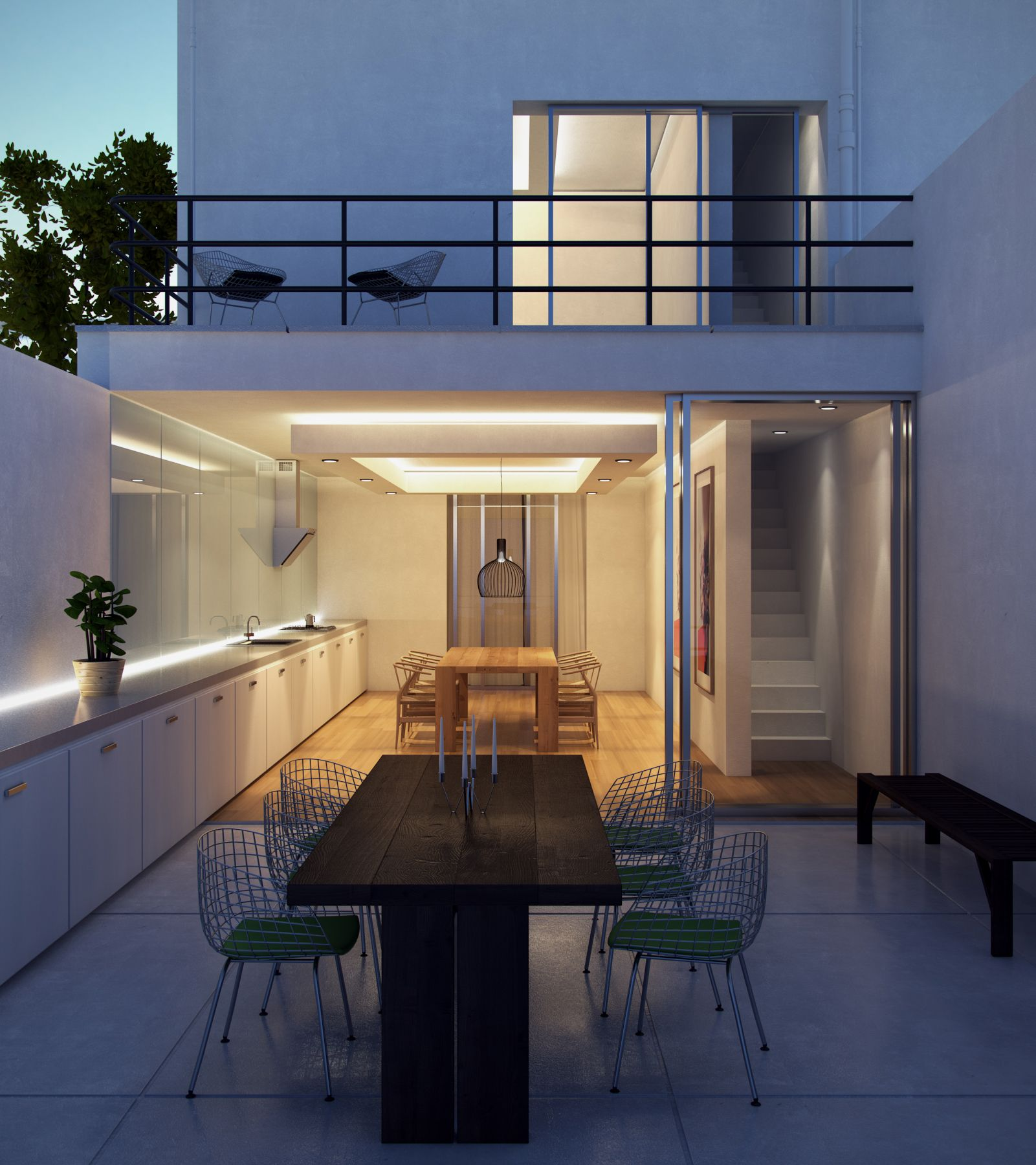 Realistic Night Exterior Using Vray HDRI and Vray Ies Lights