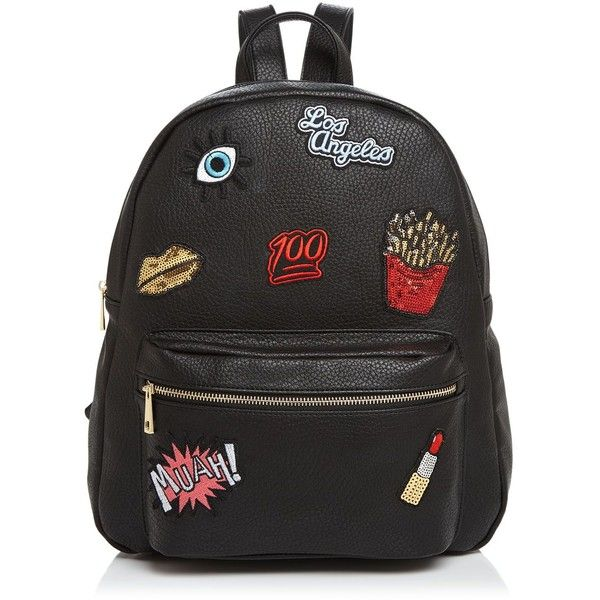 937e56df2da9 Ollie & B Patch Leather Backpack ($105) ❤ liked on Polyvore ...