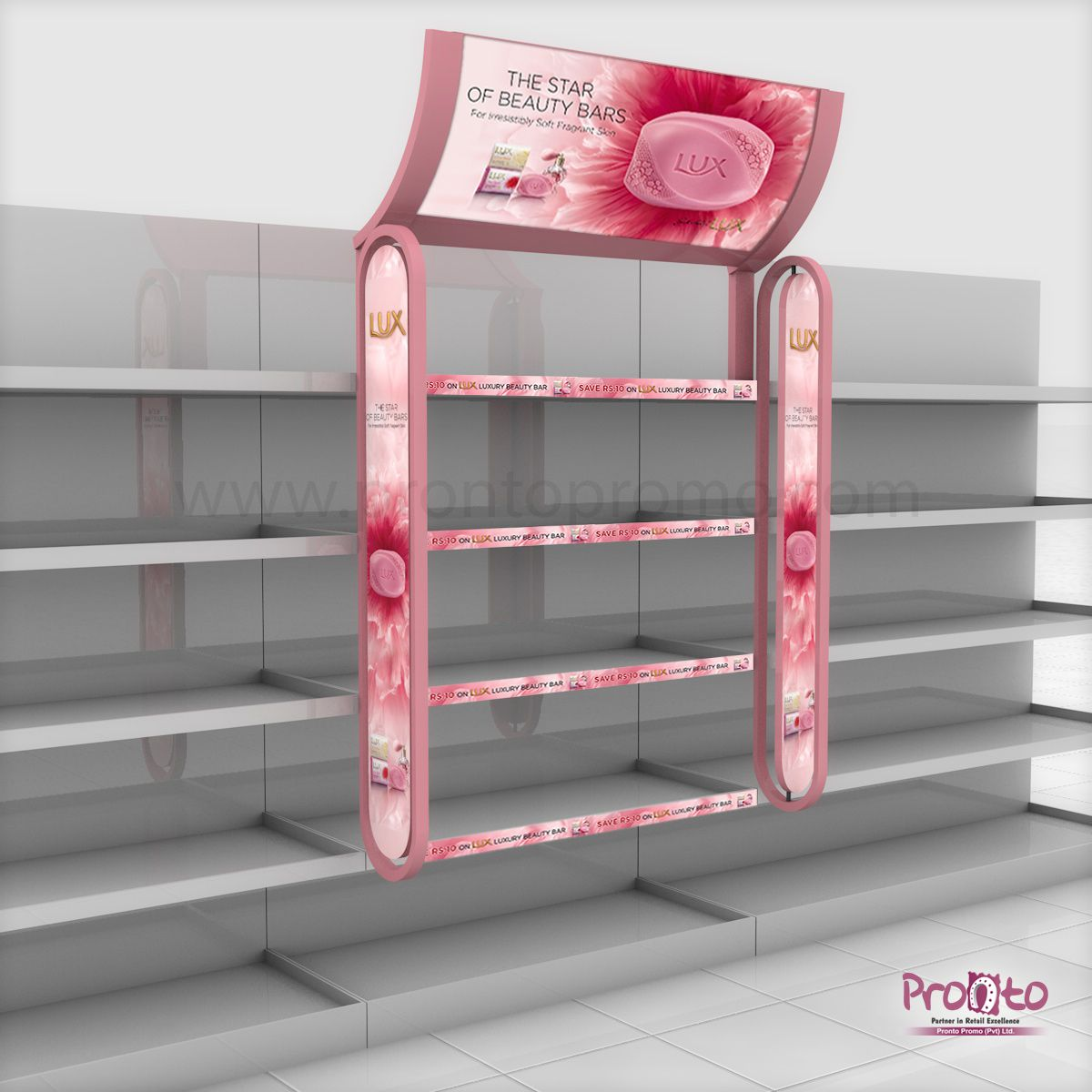 Lux Soap Display Podium Gondola S Hanging Display Design Concept  # Muebles Dummy Medellin