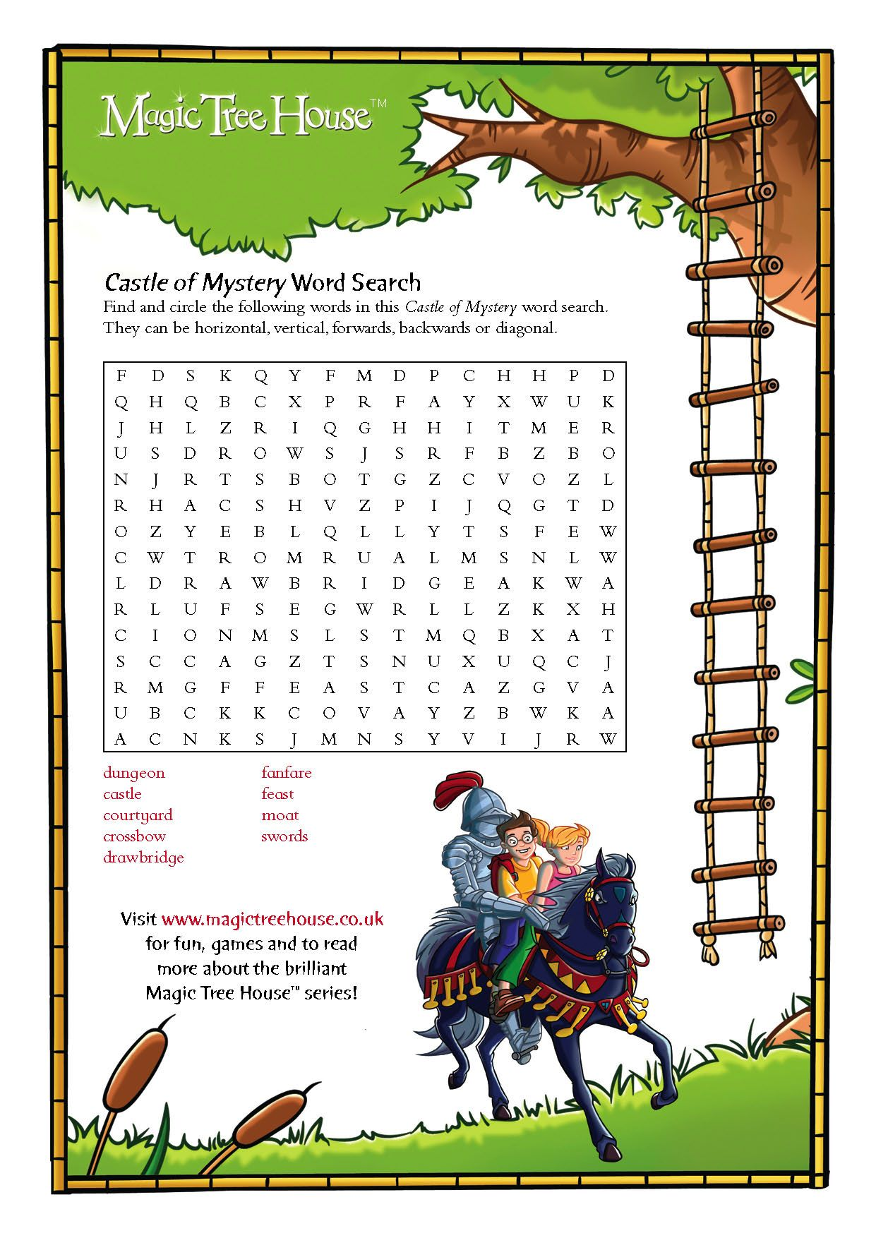 Magictreehouseword act puz 36775 | colouring pages | Pinterest