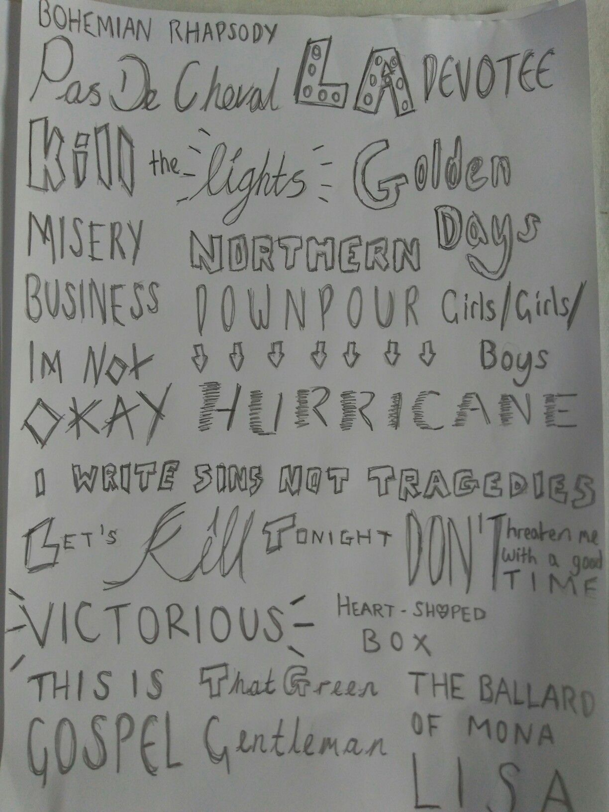 Song Titles from Panic! At The Disco, Set It Off, My