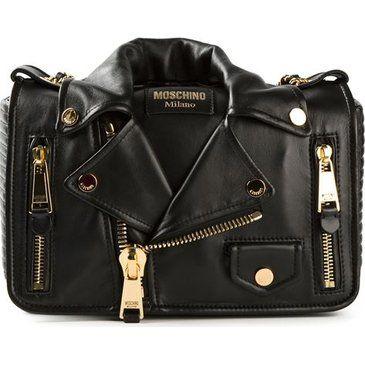 Moschino Biker Jacket Style Shoulder Bag - Smets - Farfetch.com