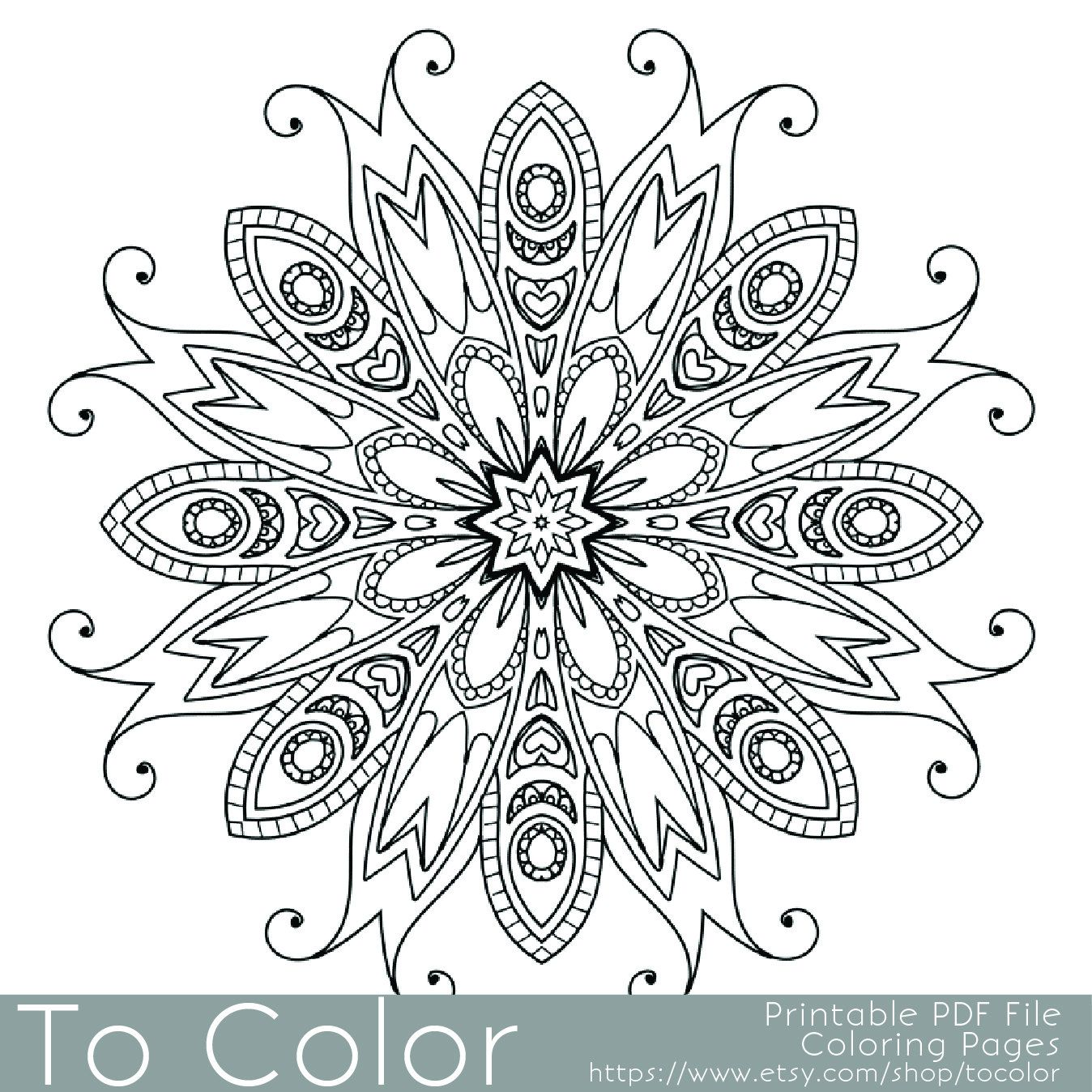 detailed printable coloring pages for adults gel pens mandala