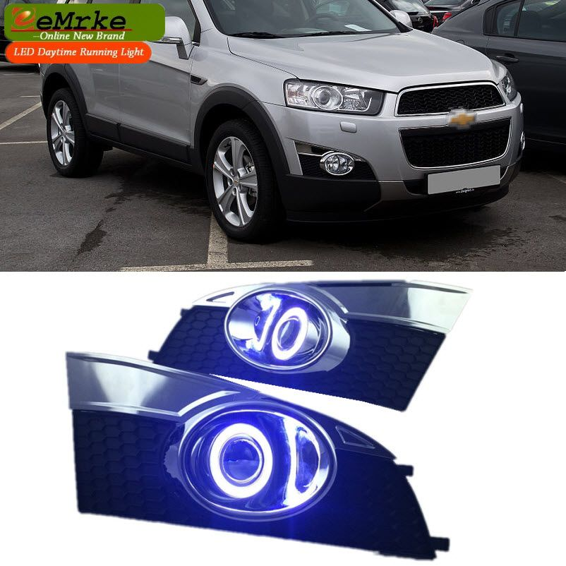 Eemrke For Chevrolet Holden Captiva 2010 2013 Ccfl Angel Eye Drl