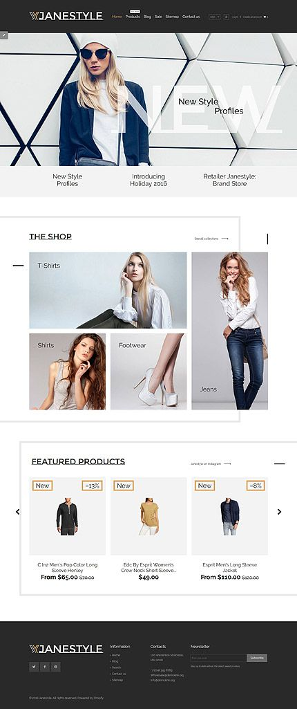 Style  Fashion Online Store #Shopify #template #themes #business - shopify template