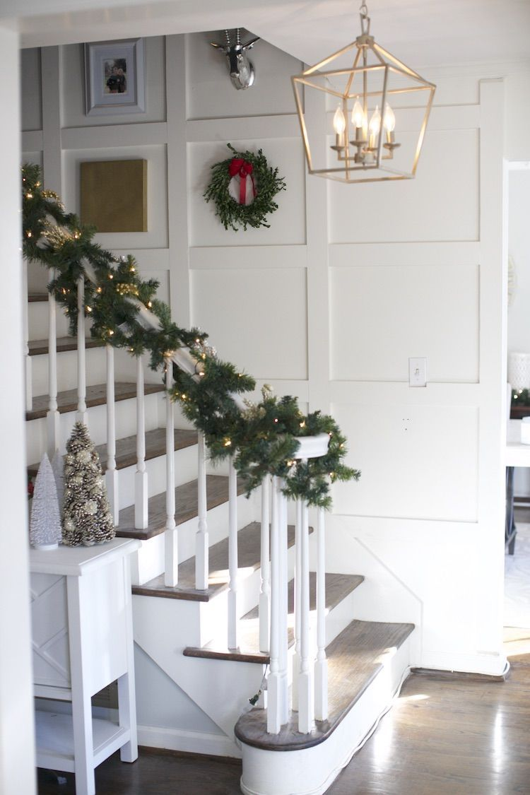 DIY Paneled Staircase - The Home Depot Blog | Christmas | Pinterest ...