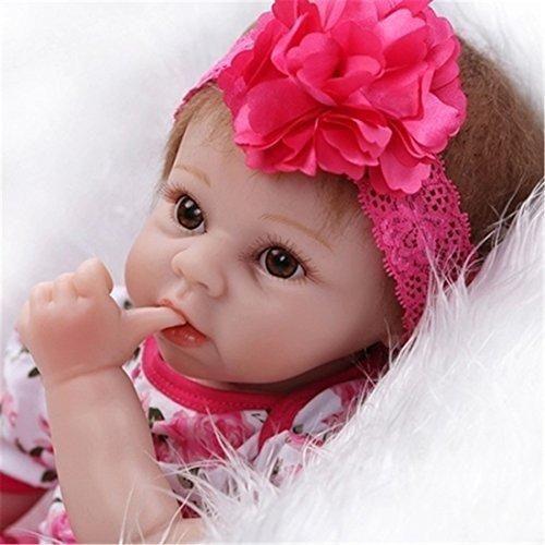 SanyDoll Reborn Baby Doll Soft Silicone vinyl 22inch 55cm Lovely Lifelike Cute Baby Boy Girl Toy Beautiful princess dress images