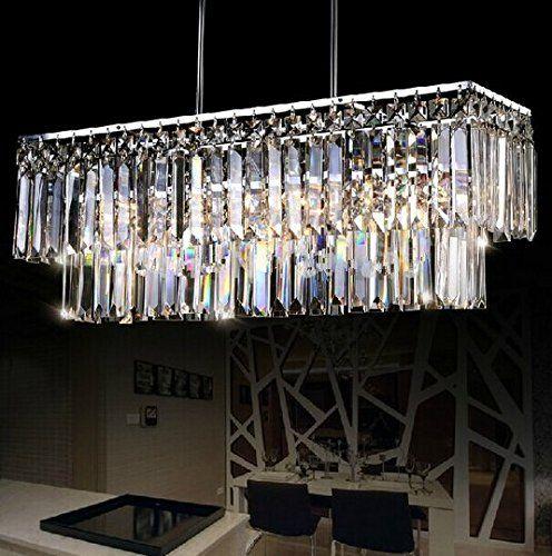 GOWE Rectangle Design Modern Crystal Chandelier For Dinin... Chandeliers  For Dining RoomModern ...
